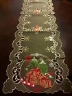 """16""""x72"""" Embroidered Christmas Tablecloth Candy Cane Tree Table Runner Home Decor"""