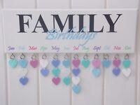Family Birthday Reminder Plaque Board Calendar