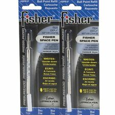 2 Fisher Space Ball Point Pen Refill Blue Fine SPR1F NIP