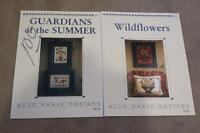 Lot 2 Blue Whale Designs X Stitch Charts WILDFLOWERS & GUARDIANS OF THE SUMMER