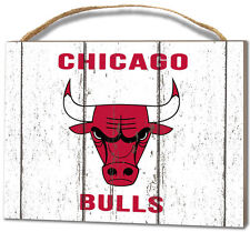 Chicago Bulls Small Plaque - Weathered Logo [NEW] NBA Sign Wall Wood