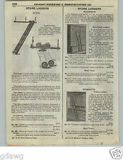 1922 PAPER AD 3 PG Myers Milbrandt Richards Rolling Bicycle Store Library Ladder
