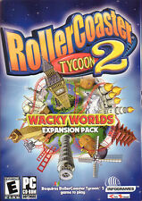 Roller Coaster Tycoon 2 WACKY WORLDS Expansion RARE Add-on Pack -  PC Game - NEW