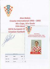 Alen Boksic Croacia Internacional 1993-2002 Original Corte firmada a mano