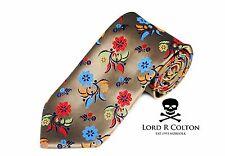 Lord R Colton Masterworks Tie - Bronze Colorful Bliss Silk Necktie - $195 New