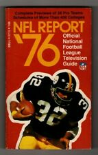 NFL Report '76 Official NFL Television Guide FRANCO HARRIS, Steelers  FREE SHIP