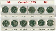 1999 Canada  Quarter 25 Cent Set 12 Coins in Holder
