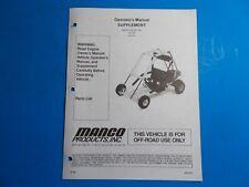 1998 Manco Machine Offroad Vehicle Model 415-391 415-241 Operators Supplement