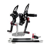 Rearset Rear set For Ducati 848 1098 1098S 1098R 1198 Black AU5