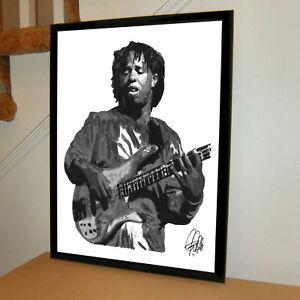 Victor Wooten American Bass Rock Music Print Poster Wall Art 18x24