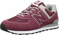 New Balance Men's 574 V2 Evergreen Sneaker, Burgundy/Grey, Size  GeqJ