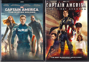 2 CAPTAIN AMERICA DVDs • First Avenger & Winter Soldier