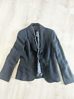 Escada Size EUR 38 (US 8) Jacket Blazer Wool Blend Black Open Sleeve