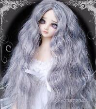 1 3 8-9 Bjd Wig Dal Pullip Bjd Sd Dz Dod Luts Dollfie Doll wigs long Curly Gray