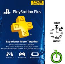 PlayStation Plus Membership Card - Subscription 1 Year 12 Month - PSN  -USA-