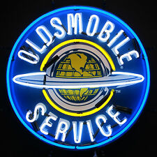 Oldsmobile Service Neon Sign General Motors garage lamp dealership Olds Globe