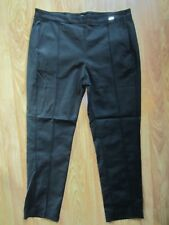 WOMEN'S MARCIANO BY GUESS STRAIGHT LEG BLACK PANTS GREAT FIT SIZE 8 US / 44 EUR