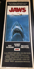 Jaws! '75 Scheider, Shaw, Dreyfuss Rare Original U.S. Insert Film Poster