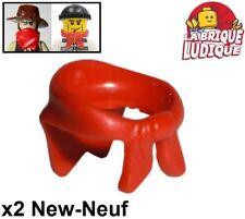 Lego - 2x Minifig foulard Bandana scarf bandit train winter rouge/red 30133 NEUF