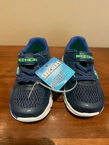 NEW! Skechers Toddler Boy's Light Weight Shoes Navy/Blue Size: 8