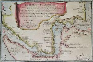 Patagonia, Strait of Magellan, Chile, Argentina.. N. de Fer, 1705, Le Detroit...