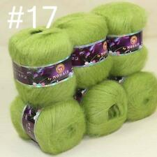 Sale Lot of 6 BallsX50g Soft Warm NEW MOHAIR HAND KNITTING YARN Cashmere Silk 17