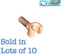 LEGO 10) LIGHT FLESH HANDS Minifig parts 10 hands Equals 5 Pair NEW