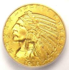 1915 Indian Gold Half Eagle $5 Coin - ICG MS64 - Rare in MS64 - $2,440 Value!