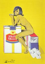 Postkarte: Mel Ramos - Tobacco Rose / 1965 / Zigaretten
