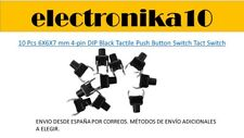 10 pcs  6X6X7mm 4-pin DIP Tactil microswitch interruptor swithch boton  ESPAÑA