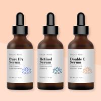 Anti Aging Trio Kit Retinol Serum + Vitamin C Serum + Pure Hyaluronic Acid Serum