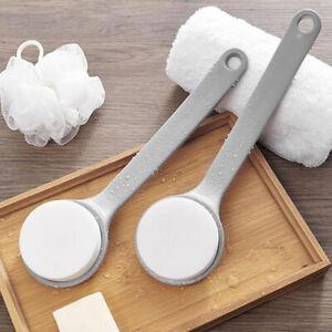 Brosse éponge de bain avec brosse pour le corps exfoliante pour le dos à longW1F