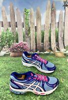 Asics Gel Exalt 2 Size 9.5 Women Running Shoes T4B6N Turquoice-Pink-White
