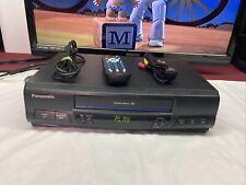 New listing Panasonic Omnivision 4 Head VHS VCR Player PVQ-V200 w/ Remote & AV Cables 🎶🎼❤️
