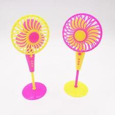 1 X Mini Fan Toys for Barbies Kids Dollhouse Furniture Accessories RandomRZC