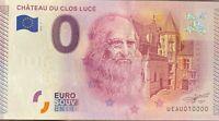 BILLET 0  EURO CHATEAU DU CLOS LUCE FRANCE  2015  N° 10000 DERNIER BILLET