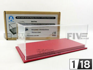 ATLANTIC CASE 1/18 - DISPLAY CASE SHOW-CASE 1/18 - MULHOUSE RED LEATHER - 10072