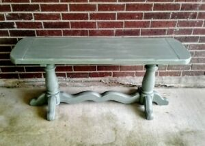 Green Sofa/ Entry Table