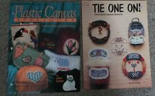 Two Plastic Canvas Pattern Books -Wall Hangings and 19 quick Projects