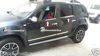 Modanature 4 Profili Acciaio Cromo Raschiavetri Finestrini Dacia Duster 10-2017
