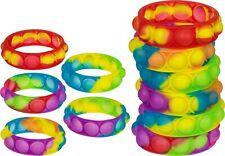 Push It Pop Fidget Toy Spielzeug Fidget Pop Bubble Armband Rainbow 6er Set NEU