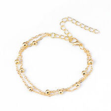 1 Pcs Woman Stainless Steel Bracelet Chain Bead Anklets Smooth Gold/Silver