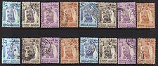 BAHRAIN 1976 HIGH VALUES 500 FIL 1 2 & 3 DINARS FOUR SET NEATLY USED SG 243 243e