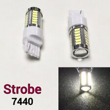 Strobe Flash Reverse Backup LED Bulb White T20 W21W 7440 7441 992 #12 B1 F