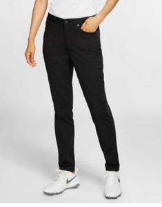 NWT$100 Nike Golf Women's Slim Fit Golf Pants Black Size 2 AT3327