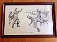 Vintage Gibson Print Features of Liberal Education American Art Football Sports
