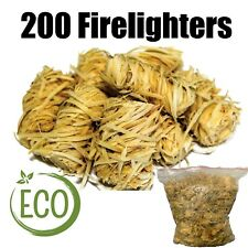 More details for natural firelighters - 200 wood eco natural fire lighters
