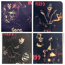 vtg KISS 1976 LOT 4X SET AUCOIN Alive ROCK Destroyer US TOUR nos t-shirt iron-on