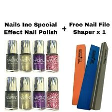 NAILS INC SPECIAL EFFECT NAIL POLISH UNSEALED *CHOOSE* FREE NAIL FILE SHAPER x 1