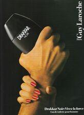 Publicité papier - adverting paper - Drakar Noir de Guy Laroche (1987)